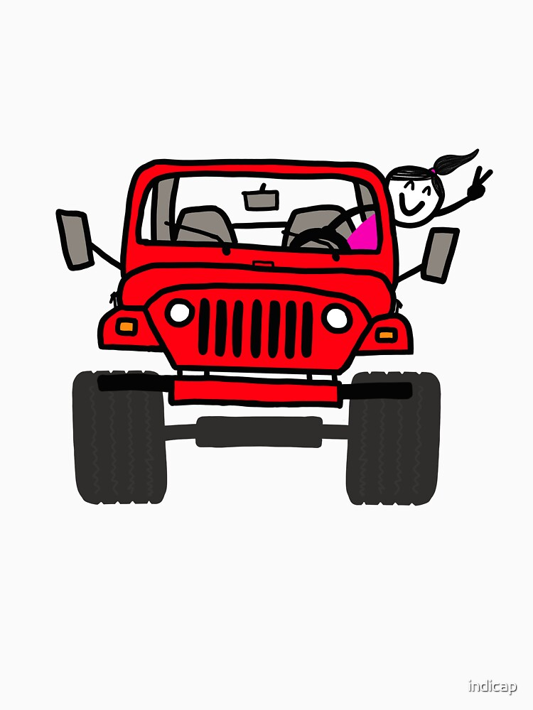 Jeep Wave Red - Girl by indicap
