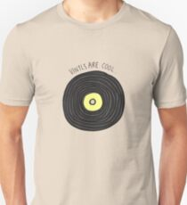 Vinyls are Cool (Grey) Unisex T-Shirt
