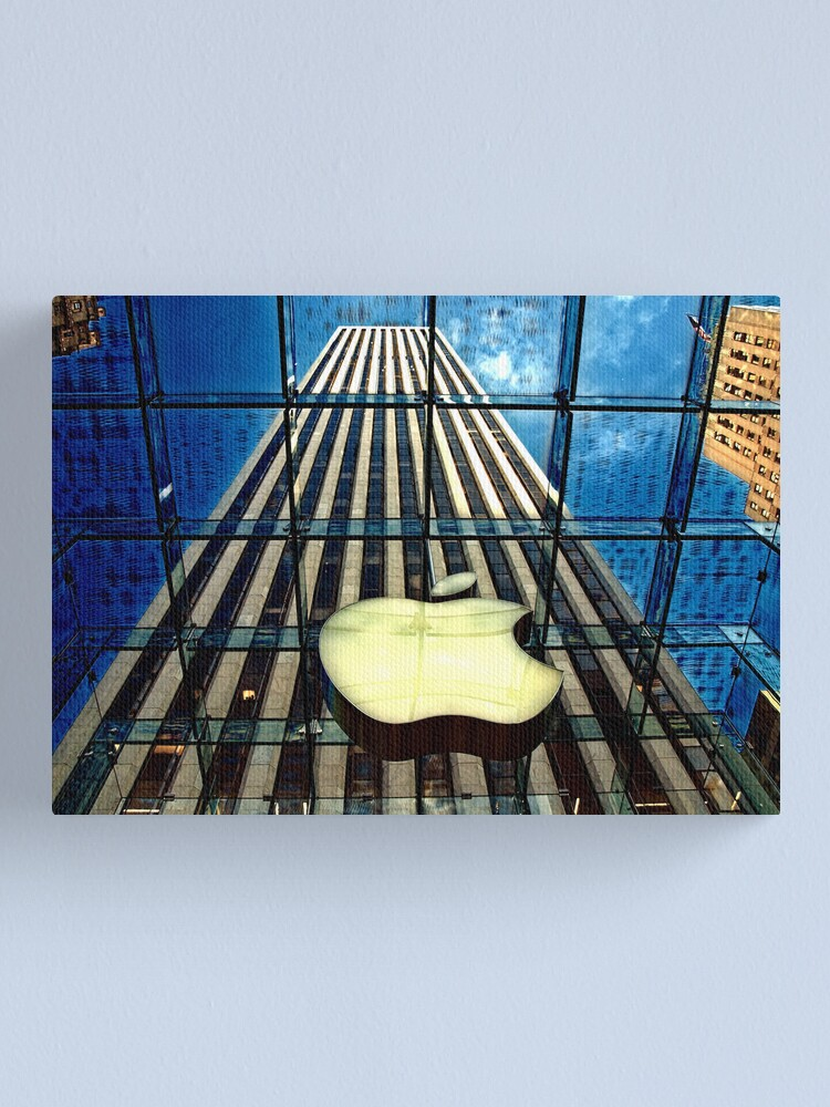 Alternate view of View from the Apple store, NYC Canvas Print