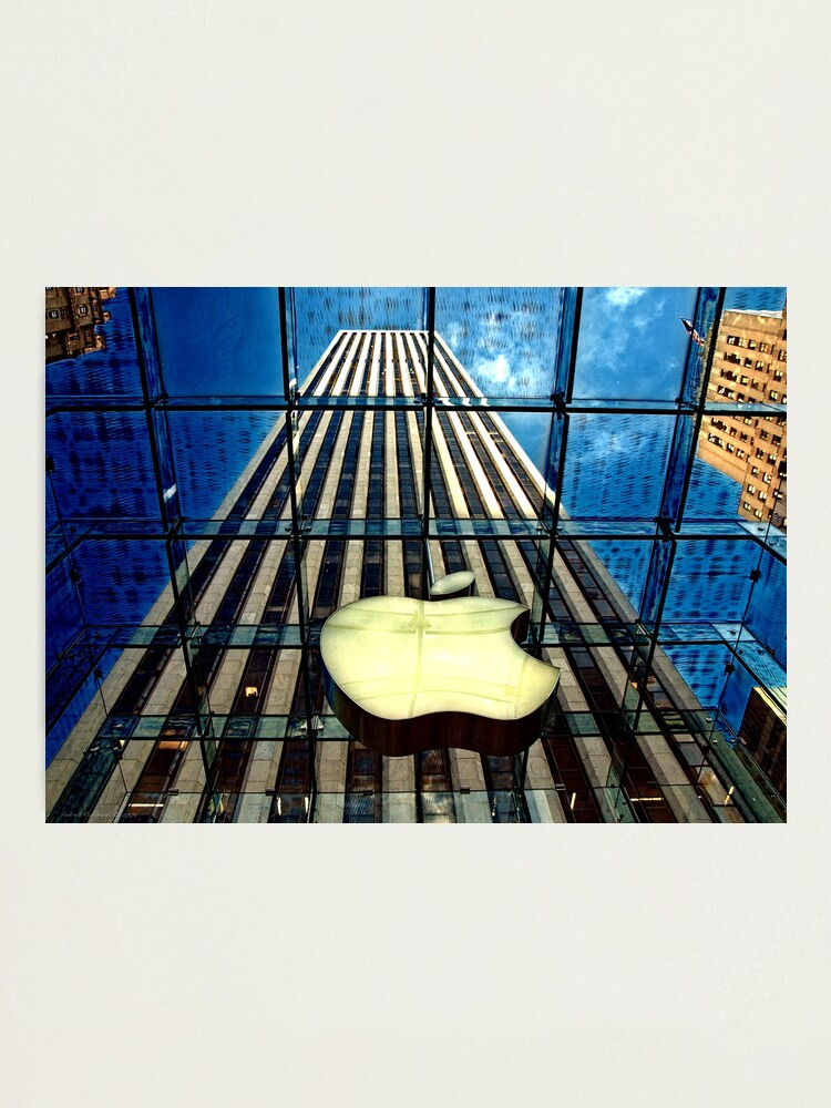 Alternate view of View from the Apple store, NYC Photographic Print