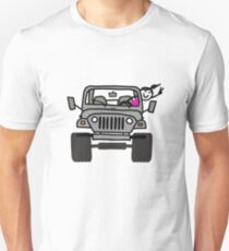 Jeep Wave Gray (Grey) - Girl Unisex T-Shirt