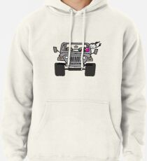 Jeep Wave Gray (Grey) - Girl Pullover Hoodie
