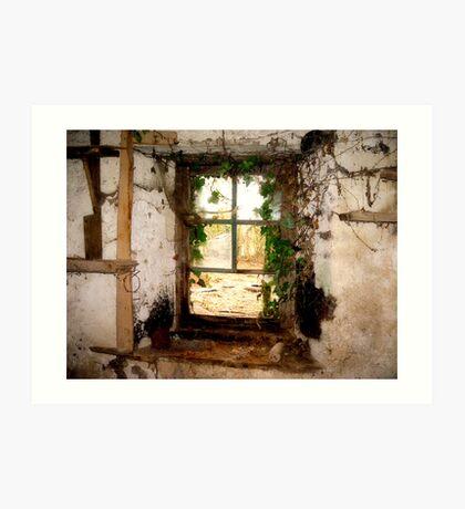 The Old Window Art Print