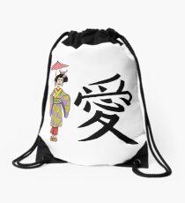 Geisha manga Drawstring Bag