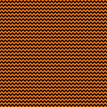 Small Pumpkin Orange and Black Halloween Chevron Stripes  by Creepyhollow