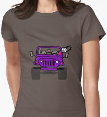 Jeep Wave Purple Girl Women's Fitted T-Shirt