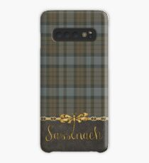 TARTAN LEATHER SASSENACH Case/Skin for Samsung Galaxy