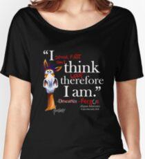 Fergus the Horse: Descartes (white) Women's Relaxed Fit T-Shirt