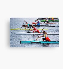 Rowing Race Canvas Print