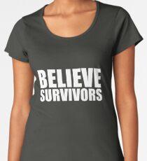 Believe Survivors (white) Women's Premium T-Shirt