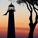 The Biloxi Lighthouse after Sunset by Jonicool