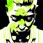Watercolor Stencil Portrait Art by coloringiship