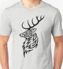 Ciervo tribal Camiseta ajustada