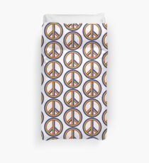 Hippie Rinbow Peace Sign Symbol Duvet Cover