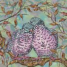 Loving Wood Pigeons by lottibrown
