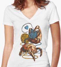 Cute Headcrab Women's Fitted V-Neck T-Shirt