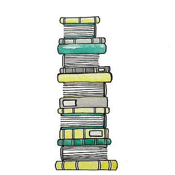 Bücher in Grün und Gelb von gentlecounsel