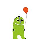 Happy green monster  by grafart
