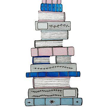 Bücher in Pink, Blau und Grau von gentlecounsel
