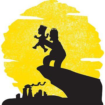Homer Bart Simpson Lion King by metaminas