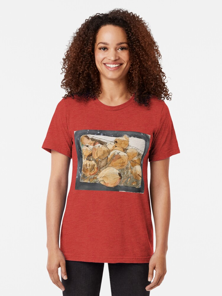 Alternate view of Onions Tri-blend T-Shirt