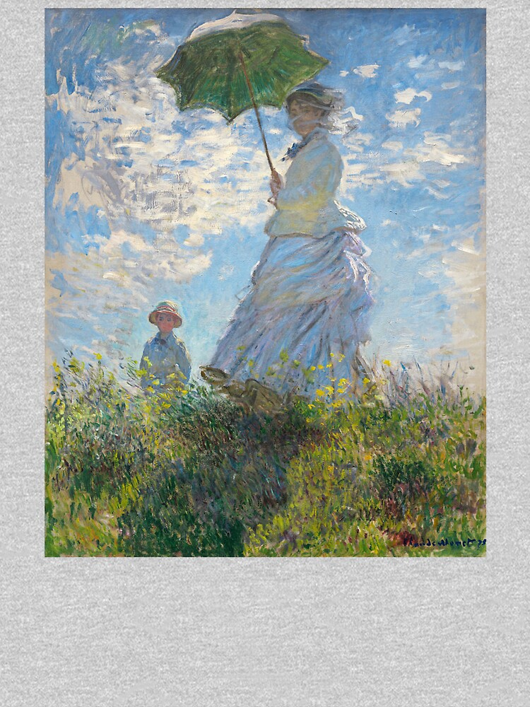 MONET, Claude, Artist, Art, Painter, Oil Painting, Canvas, Woman with a Parasol, Madame Monet and Her Son, 1875 by TOMSREDBUBBLE
