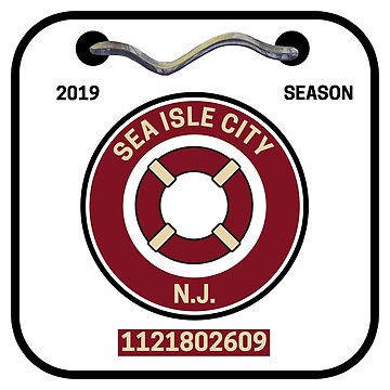 Sea Isle City New Jersey Beach Badge by fearcity