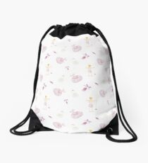 At the Barre (Ballet Dance) Drawstring Bag