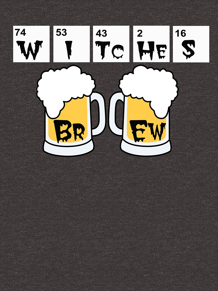 Witches Brew periodic table halloween t-shirt by Rightbrainwoman