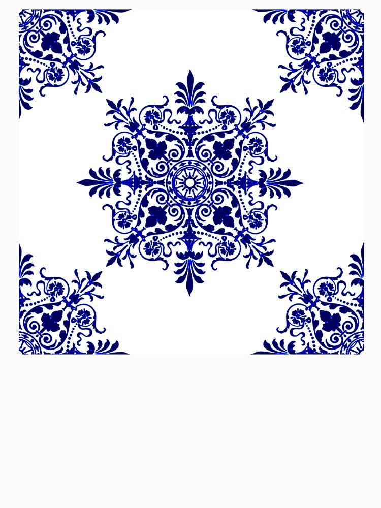 Victorian,  Victorians, Tile, Ornament, Design, Blue, Delft by TOMSREDBUBBLE