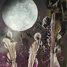 Moon Lit Iris Garden by linmarie