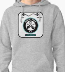 Asbury Park New Jersey Beach Badge Pullover Hoodie