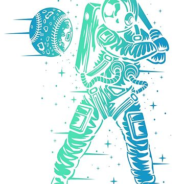 Space Baseball Astronaut Cosmos Bestseller by Manqoo