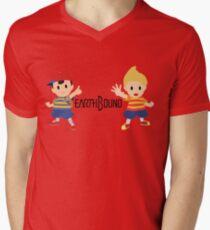 Earthbound - Ness and Lucas Mens V-Neck T-Shirt