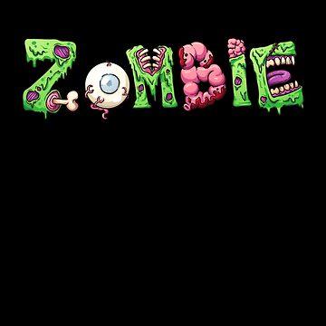 Zombie Halloween - Spooky Brains Costume by PrintPress