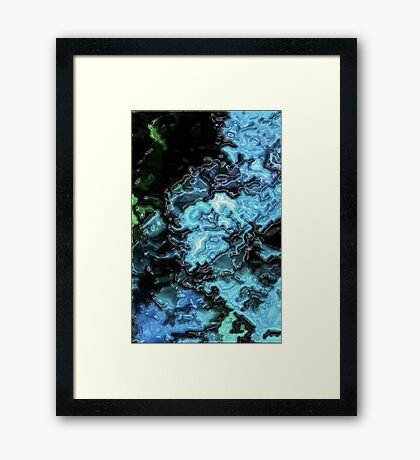 Trapped In Turquoise  Framed Print