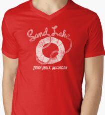Sand Lake Life Line Men's V-Neck T-Shirt