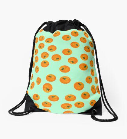 Cascading Oranges Drawstring Bag