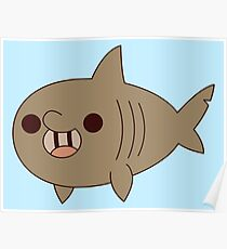 kawaii basking shark Poster