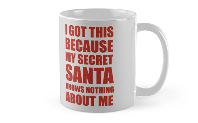 I got this because my Secret Santa knows nothing about me by fashprints