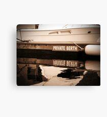 Private Berth Canvas Print