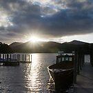 Sunset over Derwent Water by Jon Tait
