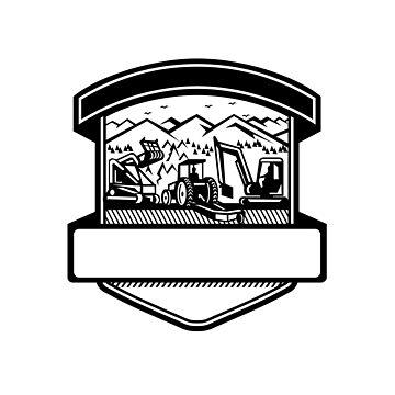 Tree Mulching Bush Hogging Excavation Services Badge by patrimonio