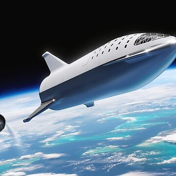 SpaceX BFR Over Earth by lurchmerch