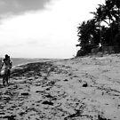 riding a bike in a brazilian beautiful beach by momarch