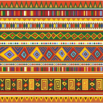 Ethnic African Art Colorful Pattern by iwaygifts