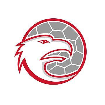 European Handball Eagle Mascot by patrimonio