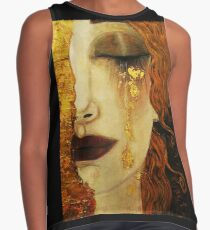 Golden Tears...Jugendstil art by Klimt Sleeveless Top