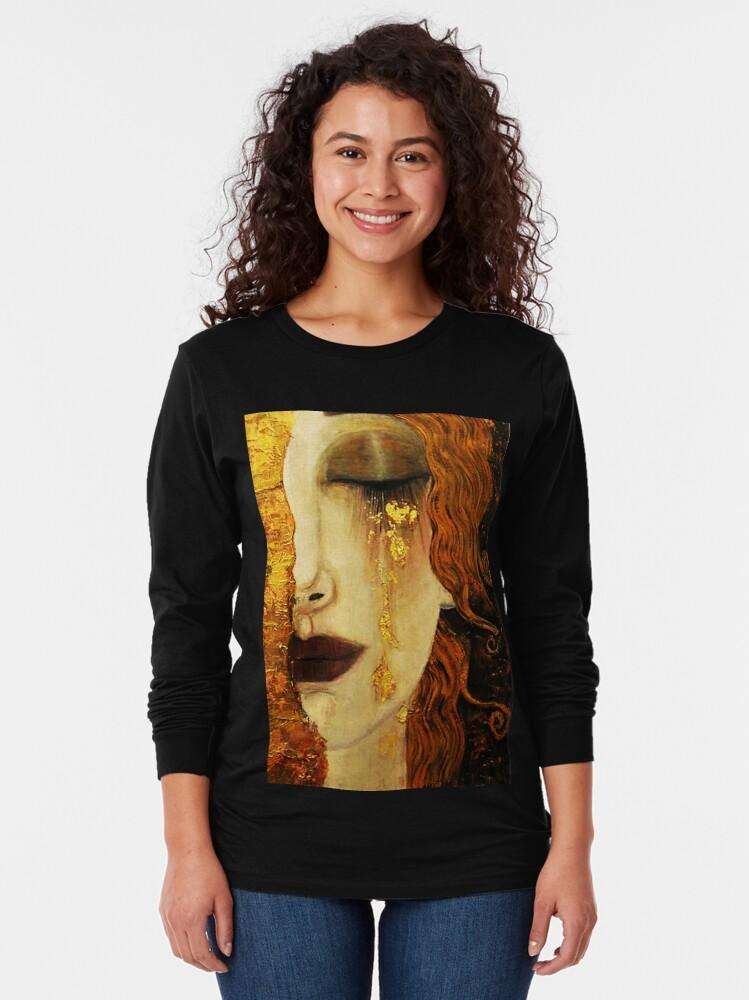 Alternate view of Golden Tears...Jugendstil art by Klimt Long Sleeve T-Shirt
