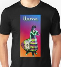 Fortnite colorful disco llama Unisex T-Shirt